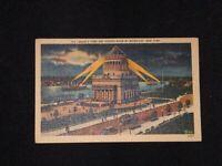 Set of 2 LINEN POSTCARD GRANTS TOMB & HUDSON RIVER NEW YORK Color 1930s NYC