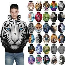 3D Animal Print Men Women Hoodie Sweater Sweatshirt Pullover Couples Jacket Tops