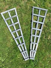 Pair of Grey Heavy Duty Fan Trellis Garden Timber Plant UK Free P&P 4ft
