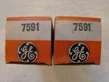 Matched Pair NOS NIB GE 7591 Vacuum Tubes Same Date Codes USA