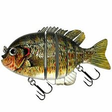 "KDS Custom Slow Sinking Jointed 4"" Multi Section Swimbait - Red Ear Sunfish"