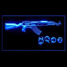 220047 AK47 Kalashnikov Airsoft Weapon Machine Display LED Light Sign