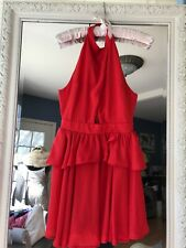 Nastygal Halter Mini Red With Cutout