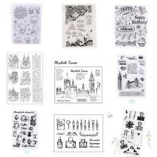 Transparent Klar Silikon Gummi Stempel Scrapbooking DIY Basteln Briefmarken Foto