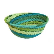 Small Telephone Wire Basket - Green Tones - Handmade in Sth Africa - Fair Trade
