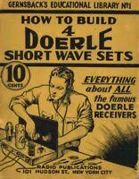 How To Build 4 Doerle Short Wave Sets 1938 PDF on CD