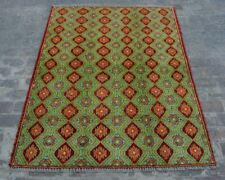 Y750 Best Vintage Afghan Caucasian Green Tribal Decor Armenian Rug 5'1 x 6'9 ft