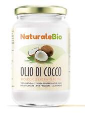 Olio di Cocco Biologico Extra Vergine 500 ml, Crudo e Spremuto a Freddo Organico