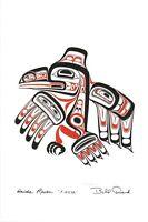 "Haida Raven ""XUUYA"" Bill Reid Art Card Northwest Coast Native"