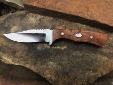Custom Clip point hunting knife - Burl Mesquite wood handles- NOT case buck