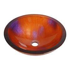 Red Flower Aufsatzwaschbecken Glas Waschschüssel Handmade mit GRATIS Armatur