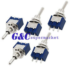 Mini 3 Pin Blue Toggle Switch Spdt On-Off-On 6A 125Vac