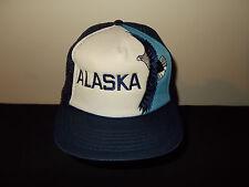 VTG-1980s Alaska Bald Eagle Wildlife mesh trucker snapback hat sku32
