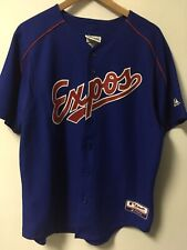 Majestic Montreal Expos Authentic Collection MLB Stitched Jersey Men's L *READ