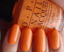 New OPI IN MY BACK POCKET Bright Orange Tangerine Nail Polish Lacquer .5oz B88