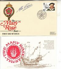1982 LA MARY ROSE Trust first day cover Main Signé Par Sir Alec Rose