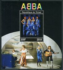 Chad 2018 MNH ABBA 1v M/S Celebrities Popstars Music Famous People Stamps