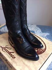 lucchese classics exotic black kangaroo cowboy boots size 10.5 D