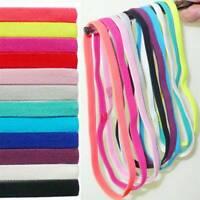 Elastic Headband Thin Hairband Head Wrap Yoga Stretch Turban Sport Bandanas New