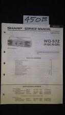 sharp wq-572 Service Manual Original Repair book boombox ghettoblaster radio