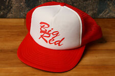 Vintage Big Red Trucker Hat Snapback Cap Adjustable One Size Speedway cc188faf8423