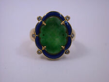 sehr hochwertiger Jade Ring in  Gold 750 - Unikat