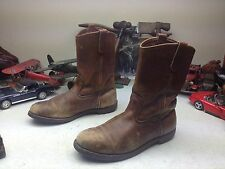 03 VINTAGE 969 RED WING LEATHER SQUARE TOE WESTERN COWBOY HARNESS ROAD BOOTS 9EE