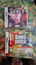 band hero + guitar rock tour nintendo ds. con set de guitarra y bateria.Completo