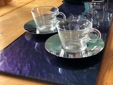 Nespresso 2 Stunning Cappuccino Coffee Cups and Saucers - BNIB