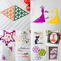 Geometry Cutting Dies Stencil Scrapbooking Embossing Paper Metal Decor DIY Craft
