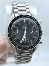 Omega Speedmaster Chronograph Automatic Black Dial 39mm Stainless 175.0032 RUNS
