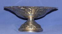 Vintage Ornate Floral Silver Plated Stem Bowl
