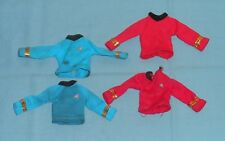 vintage Mego Star Trek SHIRT LOT x4 red blue Spock Bones McCoy Scotty clothes