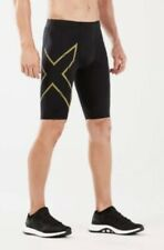 Men's 2XU Black/Gold Elite MCS Compression Shorts . Size XXS. BNWT.