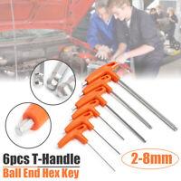 6Pcs T Handle Allen Wrench Hex Key Set Professional Long Reach Screwdriver Tool