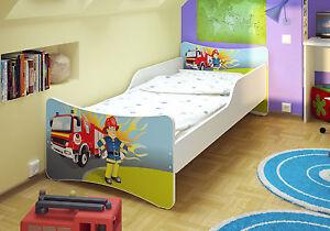 Feuerwehr Juniorbett Kinderbett Jugendbett 90x200 + Matratze + Schubladen +Latte