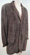 JOSEPH Menswear Chocolate Brown 100% Suede Leather Casual Jacket Coat Sz:52