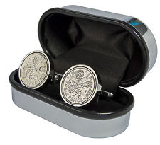 LUXURY LUCKY SILVER SIXPENCE COIN CUFFLINKS CHOICE OF DATE 1934-1967 BIRTHDAY