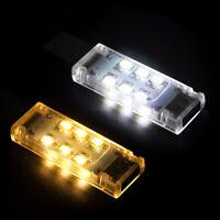 Hot White Laptop Mini Portable Mobile Power USB LED Lamp Night Gadget Lighting