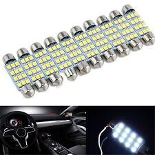 10x Lot 41mm White 3528 12 SMD LED Car Interior Festoon Dome Bulb Lamp Light 12V