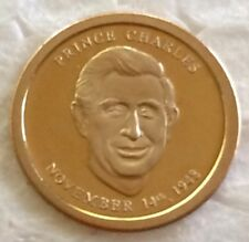 Miniature  gold coin of the Prince Charles   gold