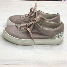 Agl platform pearl studded sneakers sz 9.5