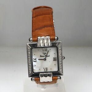 Lucien Piccard 27065WH Quartz 28mm Diamond Mens Watch