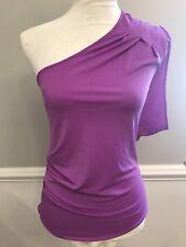 Express Women's One Shoulder Size S P Purple Top Blouse