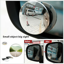 "2X Car Exterior 2"" Round Stick On Rear-view Blind Spot Convex Wide Angle Mirrors"