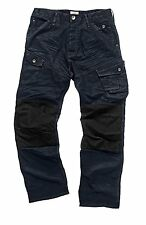Scruffs Drezna trade Denim Work Jeans Cargo Trousers knee pad pockets