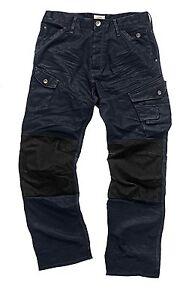 Scruffs Drezna trade Denim Work Jeans Cargo Trousers knee pad pockets