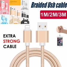 Braided USB Data Charging Cable For iPhone 5 6 6plus 7 7plus 8 X 1m 2m 3m