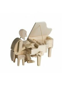 The Pianist - Timberkits Self-Assembly Wooden Construction Moving Model Kit