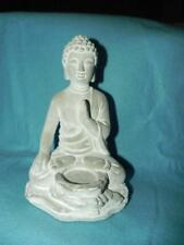 """Buddha Sitting,Tealight Holder, Cement,  6"""" by 8"""" tall, Biedermann and Sons, NEW"""